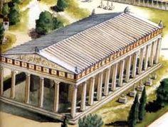 (14) Templo de Zeus en Olimpia - Maravilla del mundo antiguo. (14) Templo de Zeus en Olimpia - Maravilla del mundo antiguo. construido entre 470 y 456 a. C., fue el modelo de los templos clásicos griegos de orden dórico. El edificio fue construido por el arquitecto Libón, con frisos tallados con metopas y triglifos y frontones llenos de esculturas en el estilo severo, las cuales ahora se atribuyen al Maestro de Olimpia y su escuela.