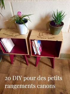 Petits rangements : 20 DIY récup' et déco Discover 20 clever ideas to transform your old objects into practical and decorative small storage accessories! Decorative Storage, Small Storage, Upcycled Furniture, Diy Furniture, Deco Addict, Shipping Crates, Shipping Wine, Creation Deco, Wine Case