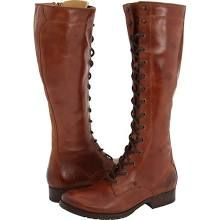 Frye Melissa Tall Lace Women's Lace-up Boots Brown Leather