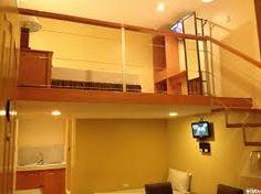 Image result for small room with mezzanine Loft, Bed, Furniture, Image, Home Decor, Mezzanine, Decoration Home, Stream Bed, Room Decor