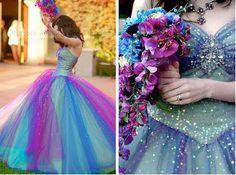 Peacock Wedding Dress