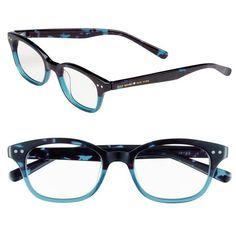 kate spade new york 'rebecca' 49mm reading glasses (1,205 MXN) ❤ liked on Polyvore featuring accessories, eyewear, eyeglasses, glasses, sky blue tortoise, tortoiseshell reading glasses, lightweight reading glasses, tortoiseshell glasses, retro eyeglasses and reading eye glasses