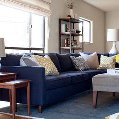 Blue Sofa Rug Living Room