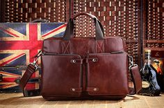 Handcrafted Leather Briefcase / Messenger / by MooshiLeatherDesign, $115.00