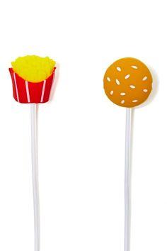 Burger & Fries Earbud Headphones