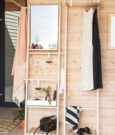 Your entryway CAN be cool - not messy‼️Jane Storage Ladders make small space storage a piece of .
