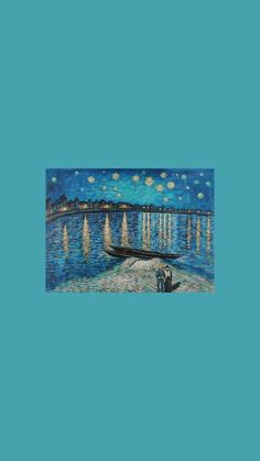 Bild - Best of Wallpapers for Andriod and ios Van Gogh Wallpaper, Painting Wallpaper, Screen Wallpaper, Cool Wallpaper, Aesthetic Pastel Wallpaper, Aesthetic Wallpapers, Blue Wallpapers, Wallpaper Backgrounds, Aesthetic Lockscreens