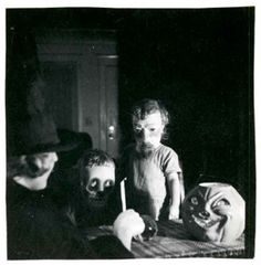From Ossian Brown's exquisite collection of antique vernacular photographs of Halloweens past. Brown compiled his favourites of eerie found photos, all dating between 1875 and 1955, into a lovely new book titled Haunted Air. David Lynch wrote the introduction.