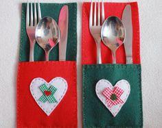 Christmas Cutlery Holder Cutlery Holder от MistyMakesTobyCreate