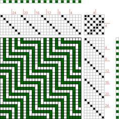 Hand Weaving Draft: Page 173, Figure 9, Orimono soshiki hen [Textile System], Yoshida, Kiju, 7S, 7T - Handweaving.net Hand Weaving and Draft Archive