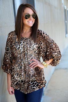 Leopard Luxe {Blouse}