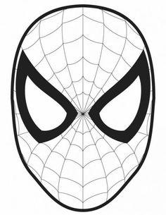 ausmalbild spiderman maske | superhelden malvorlagen, masken zum ausdrucken, ausdrucken