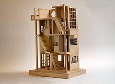 Modern Wooden Dollhouse | Modern wood...action figure or dollhouse