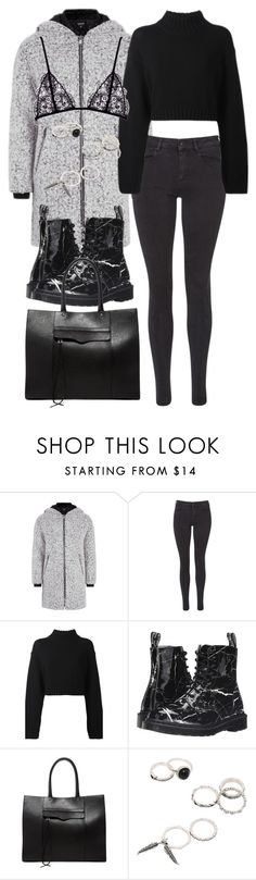 """""""Untitled #9911"""" by katgorostiza ❤ liked on Polyvore featuring Topshop, Maison Scotch, DKNY, Dr. Martens and Rebecca Minkoff"""
