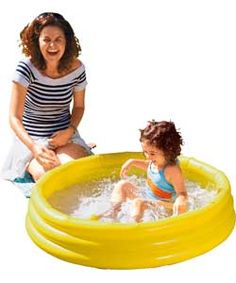 Chad Valley 3 Ring Paddling Pool - 3ft - Green.