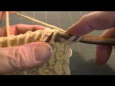 How to crochet the Tunisian Honeycomb Stitch.