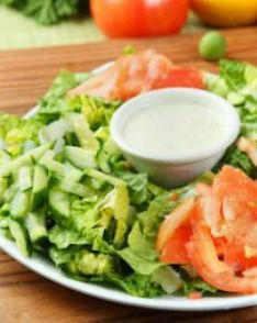 Vegan Ranch Dressing: This light and dairy-free recipe is the perfect way to dress up your favorite salad! | via @SparkPeople #food #diet #coconut