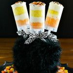 Halloween Cupcakes: Candy Corn Push Pop Display