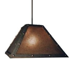 Steel Partners Rogue River 1 Light Outdoor Pendant Finish: Black, Shade Type: Mesh with Bungalow Green