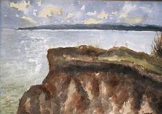 Cliffs at Pegwell Bay, Kent. An original watercolour painting!