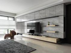 Modern Tv Wall, Modern Tv Units, Living Room Modern, Living Room Interior, Living Rooms, Tv Cabinet Design, Tv Wall Design, House Design, Modern Apartment Design
