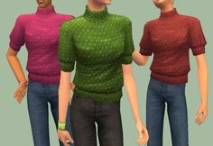 Mod The Sims - 9 colourful recolours of SharonSims separate H turtleneck (H not required) MESH NOW INCLUDED