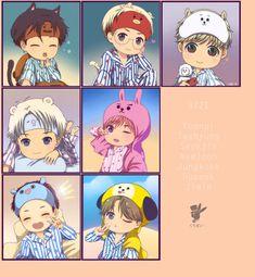 Cre: the owner/as logo Bts Chibi, Anime Chibi, Kawaii Anime, Bts Bangtan Boy, Jimin, Bts Memes Hilarious, Bts Rap Monster, Bts Aesthetic Pictures, Bts Drawings