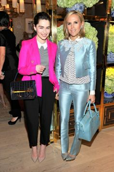 Emilia Clarke, actor from HBOs Game of Thrones Show, and Tory Burch, at the  designer's Rodeo Drive store opening. Los Angeles Celebrates Drew  Barrymore's ...