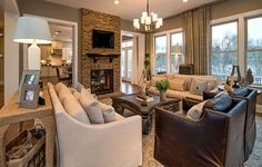 More seating areas in The Whitman model @livingarcadia in Willowsford.