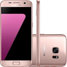 "Smartphone Samsung Galaxy S7 Android 6.0 Tela 5.1"" 32GB Wi-Fi 4G Câmera 12MP - Rosé - 3.199,00"