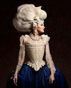 Marie Antoinette hairstyles avant-garde photographer Vincent Alvarez Marie-Antoinette