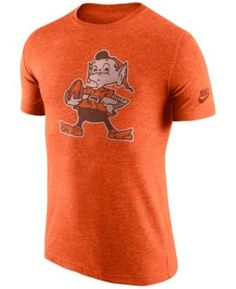 Nike Men s Cleveland Browns Historic Logo T-Shirt - Orange XXL Cleveland  Browns Hat 698140140