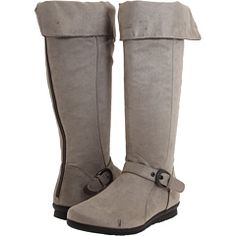 Grey boots for $60. I like these, though I'd like a little bit of slouch in them.