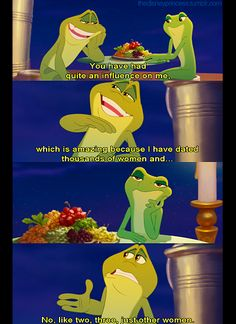 princess and the frog. this is funny.