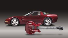 Image detail for -Gibson Custom celebrates Corvette's 50th with Limited Edition Guitar
