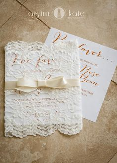 Modern Orange and White Styled Wedding Shoot  |  Fiesta Wedding  |  Lace invitation