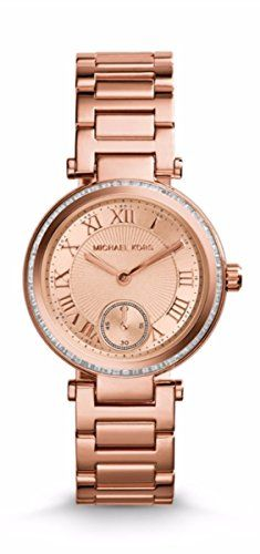 a62f5e424b0b Michael Kors Women s MK5538 Parker Brown Crystal-Accented Watch ...