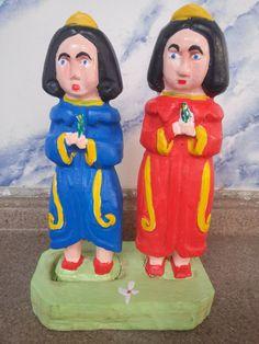 Mestre Ribamar. Cosme e Damião. 19x14 cm.