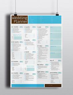 Wedding Planner/Wedding Planning Poster  Blue & by BlueIrisStudio