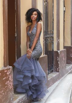 8eacb89a5f MoriLee 42066. Beaded Embroidery on Tulle Mermaid Gown Prom