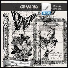 CU vol 230 Brush / Stamp by Florju Designs #CUdigitals cudigitals.comcu commercialdigitalscrapscrapbookgraphics #digiscrap