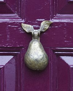 Pear Knocker on PURPLE Door Wisbech, UK Door Knocker by Linton Snapper, via Flickr plant nature