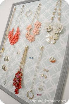 DIY Picture Frame Jewelry Organizer Crafts Pinterest Frame