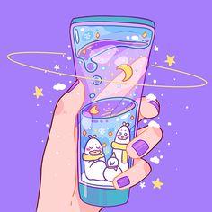 Anime Scenery Wallpaper, Cute Pastel Wallpaper, Cute Patterns Wallpaper, Kawaii Wallpaper, Arte Do Kawaii, Kawaii Art, Cute Art Styles, Cartoon Art Styles, Cute Animal Drawings Kawaii