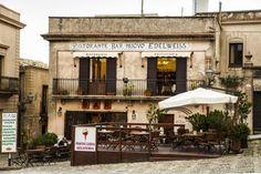 Cozy restaurant in Erice, Sicilia