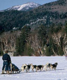 Dog Sled Rides on Mirror Lake, Mirror Lake Inn Resort and Spa, Lake Placid, NY