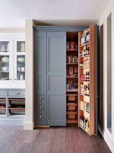 Cupboard - Fridge Like Storage http://www.houzz.com/photos/40743029/Kitchens-traditional-kitchen-london