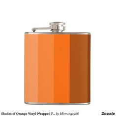 Shades of Orange Vinyl Wrapped Flask