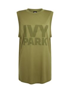 Ivy Park Khaki Classic Logo Tank Top   Shop Beyoncé's Ivy Park at Fashercise now - free worldwide shipping on orders over £150/€150! #stylishlyfit