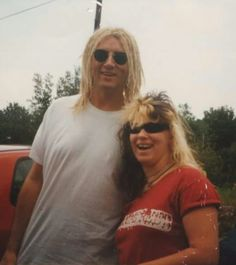 Joe with English singer, Givvi Flynn 1997.